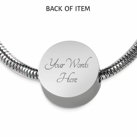 Let The Sea Set You Free, Clear Background Circle with Durable Steel Bracelet