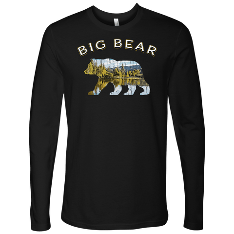 Image of Big Bear V.1 Men's Shirts T-shirt Next Level Mens Long Sleeve Black S
