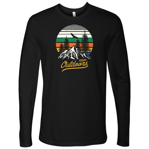 Image of Great Outdoors Shirts | Mens T-shirt Next Level Mens Long Sleeve Black S