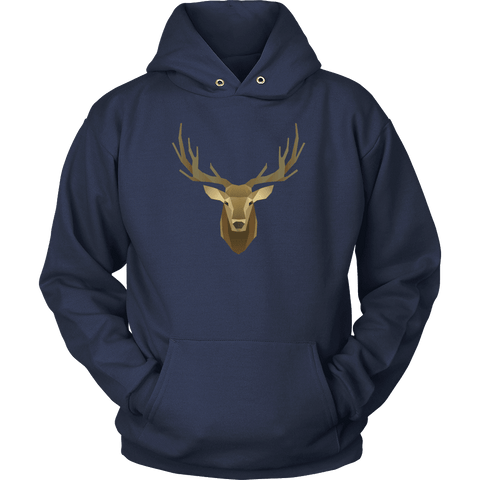 Image of Deer Portrait, Real T-shirt Unisex Hoodie Navy S