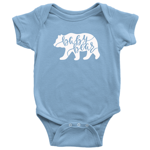 Baby Bear Shirts and Onesies T-shirt Baby Bodysuit Light Blue NB