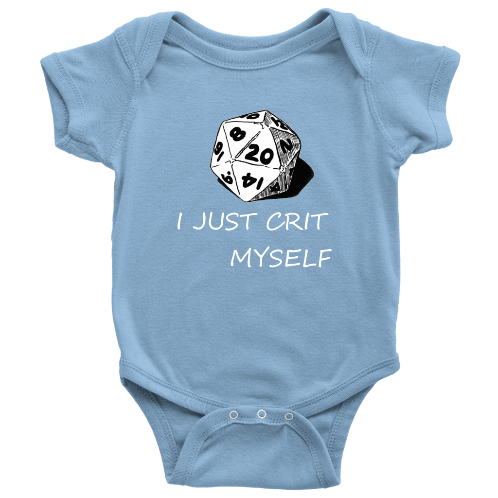 I Just Crit Myself Onsies T-shirt Baby Bodysuit Light Blue NB