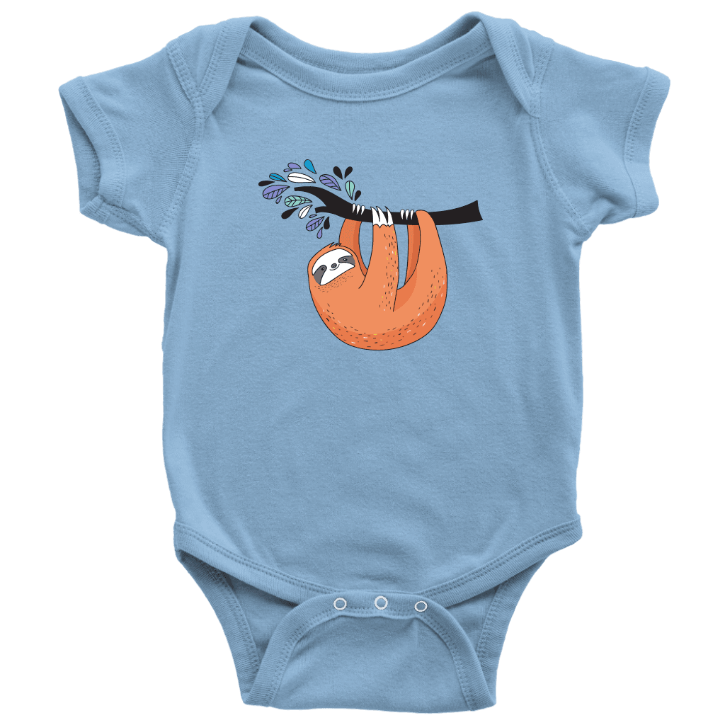 Just Hanging Onsies T-shirt Baby Bodysuit Light Blue NB