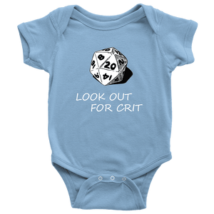 Look Out For Crit Onesies T-shirt Baby Bodysuit Light Blue NB