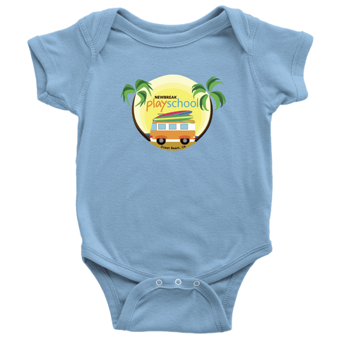 Newbreak Playschool Onesie T-shirt Baby Bodysuit Light Blue NB