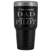 Proud Dad, Awesome Pilot Tumblers Black
