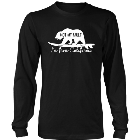 Image of From California T-shirt District Long Sleeve Shirt Black S