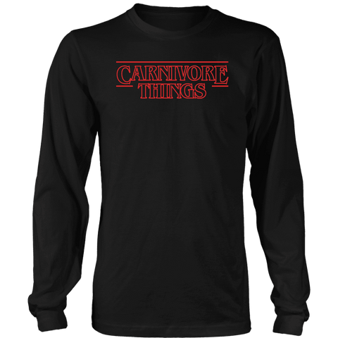 Image of Carnivore Things T-shirt District Long Sleeve Shirt Black S