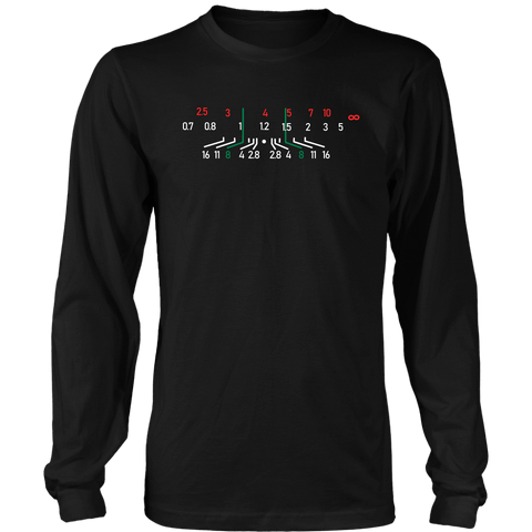 Focal Length, District Shirts and Hoodies T-shirt District Long Sleeve Shirt Black S