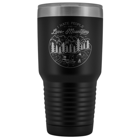 Image of Love the Mountains | 30oz Tumbler Tumblers Black