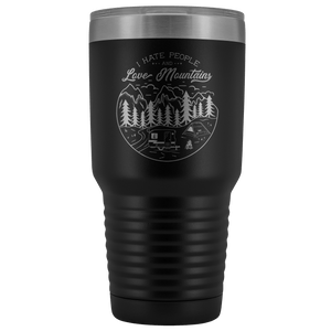 Love the Mountains | 30oz Tumbler Tumblers Black