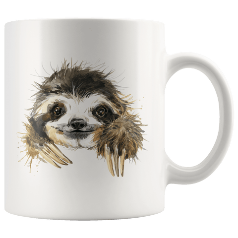 Image of Happy Sloth Mug Drinkware 11oz Mug