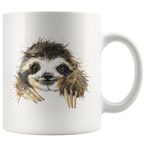Happy Sloth Mug Drinkware 11oz Mug