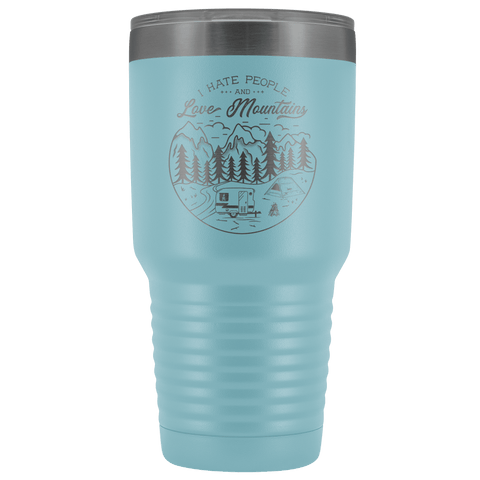 Image of Love the Mountains | 30oz Tumbler Tumblers Light Blue
