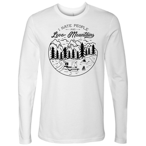 Love The Mountains Mens T-shirt Next Level Mens Long Sleeve White S