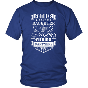 Father and Daughter Fishing Partners T-shirt District Unisex Shirt Royal Blue S