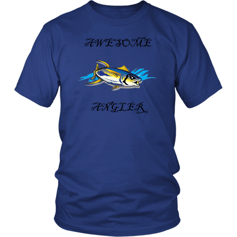 Image of You're An Awesome Angler | V.3 Pirate T-shirt District Unisex Shirt Royal Blue S