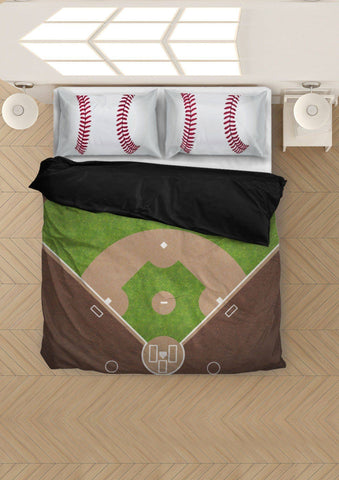 Image of Awesome Baseball Bedding, Black