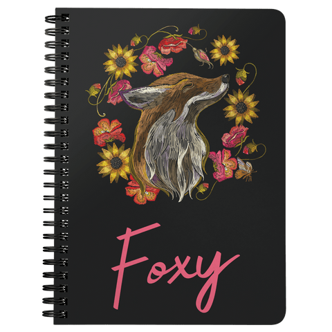 "Image of ""Foxy"" Fox Spiral Notebook Journals Spiral Notebook"