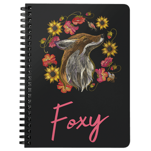 """Foxy"" Fox Spiral Notebook Journals Spiral Notebook"