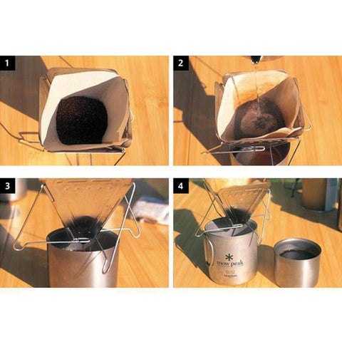 Image of Flat Pack Pour Over Coffee Brewer Coffee Filters