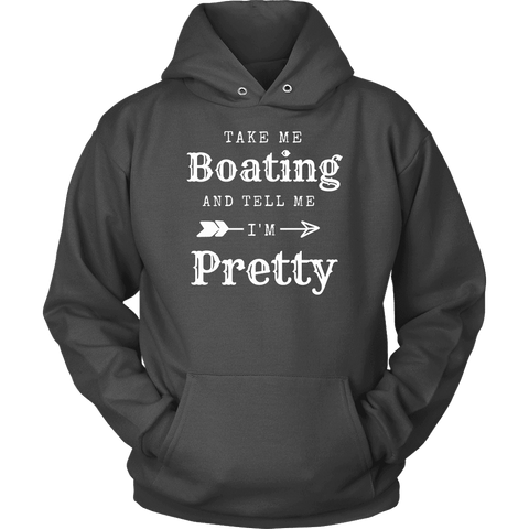 Image of Take Me Boating Womens Shirts T-shirt Unisex Hoodie Charcoal S