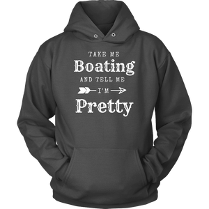 Take Me Boating Womens Shirts T-shirt Unisex Hoodie Charcoal S
