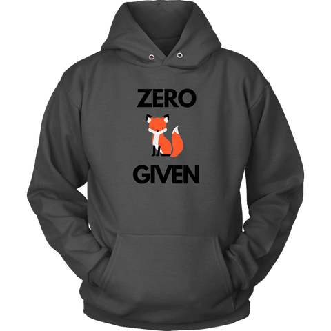Zero Fox Given T-shirt Unisex Hoodie Charcoal S