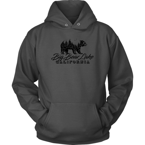 Image of Big Bear Lake California V.2, Hoodies and Long Sleeve T-shirt Unisex Hoodie Charcoal S