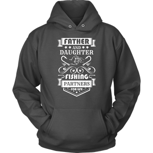 Father and Daughter Fishing Partners T-shirt Unisex Hoodie Charcoal S