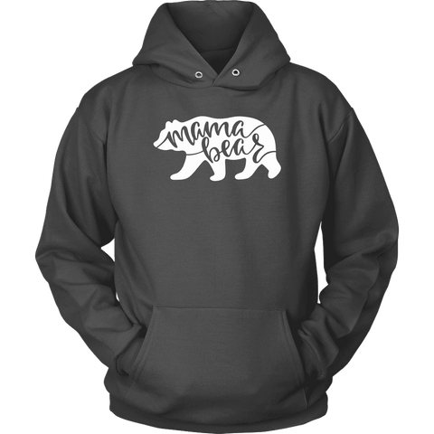 Image of Mama Bear Shirts T-shirt Unisex Hoodie Charcoal S