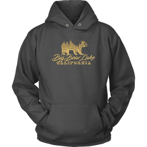 Big Bear Lake California V.2, Gold, Hoodies Long Sleeve T-shirt Unisex Hoodie Charcoal S