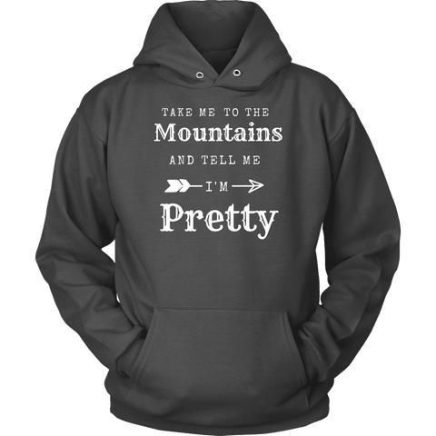 Image of To The Mountains Womens Shirts T-shirt Unisex Hoodie Charcoal S