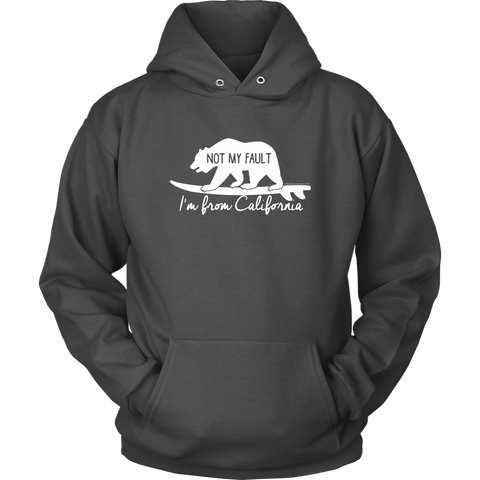 Image of From California T-shirt Unisex Hoodie Charcoal S