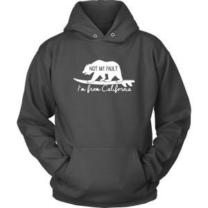From California T-shirt Unisex Hoodie Charcoal S