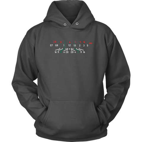 Image of Focal Length, District Shirts and Hoodies T-shirt Unisex Hoodie Charcoal S