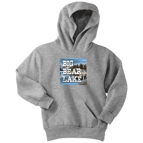 Image of Big Bear Lake V.1 Hoodies and Long Sleeve T-shirt Youth Hoodie Athletic Heather XS