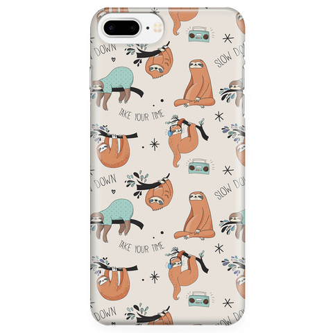 Image of Beige Sloth Collage Phone Case Phone Cases iPhone 7 Plus/7s Plus/8 Plus