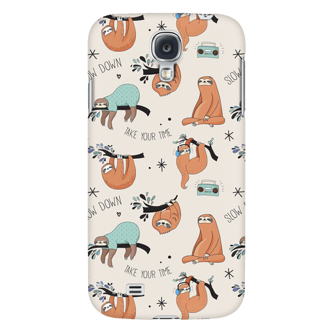 Image of Beige Sloth Collage Phone Case Phone Cases Galaxy S4
