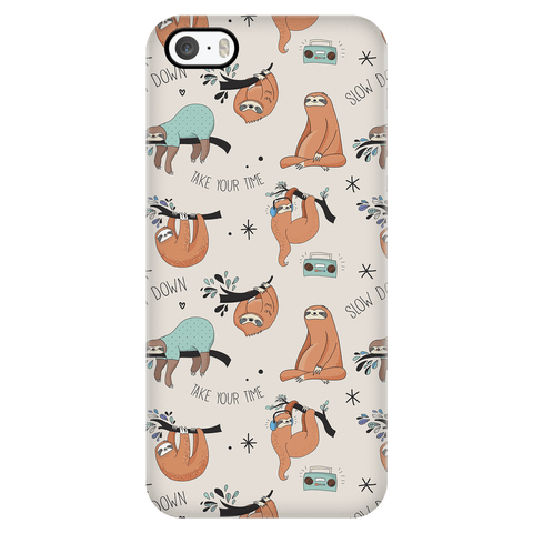 Image of Beige Sloth Collage Phone Case Phone Cases iPhone 5/5s