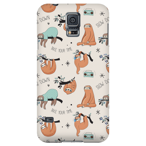 Beige Sloth Collage Phone Case