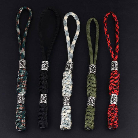 Image of Viking Rune Paracord Keychain Key Chains