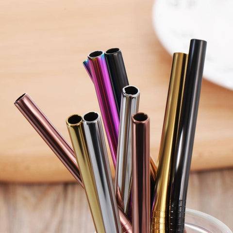 4PCS/Pack Colorful Stainless Steel Drinking Straws Drinking Straws