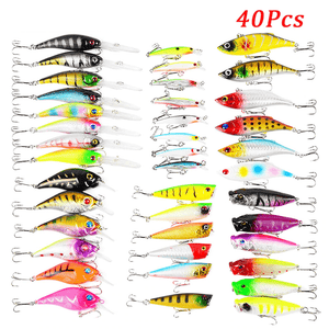 40Pcs Fishing Lures Set | Topwater and Diving Hard Bait