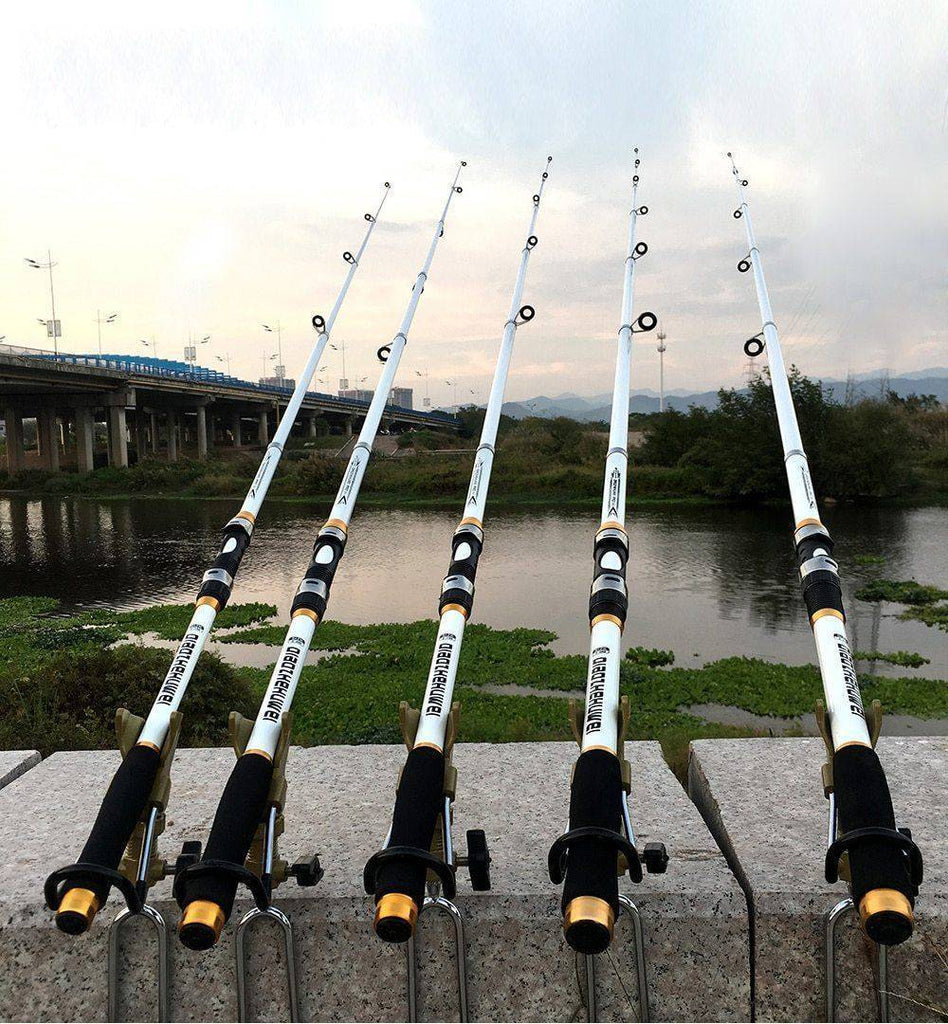 Carbon Fiber Reinforced Telescopic Fishing Rod, Amazing Strength Fishing Rods