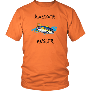 You're An Awesome Angler | V.2 Chiller T-shirt District Unisex Shirt Orange S