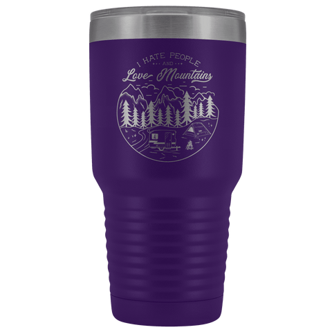 Image of Love the Mountains | 30oz Tumbler Tumblers Purple