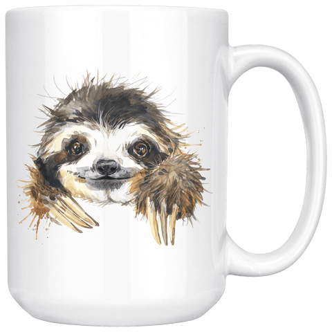 Image of Happy Sloth Mug Drinkware 15oz Mug