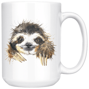 Happy Sloth Mug Drinkware 15oz Mug