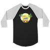 Newbreak Playschool Raglan Shirt T-shirt Canvas Unisex 3/4 Raglan Black/White S